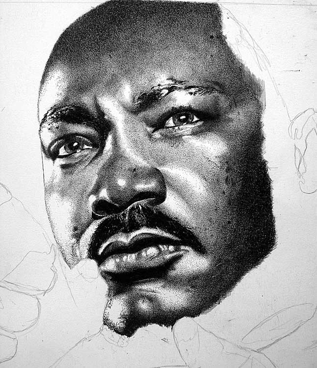 This is a graphic of Unusual Martin Luther King Drawing